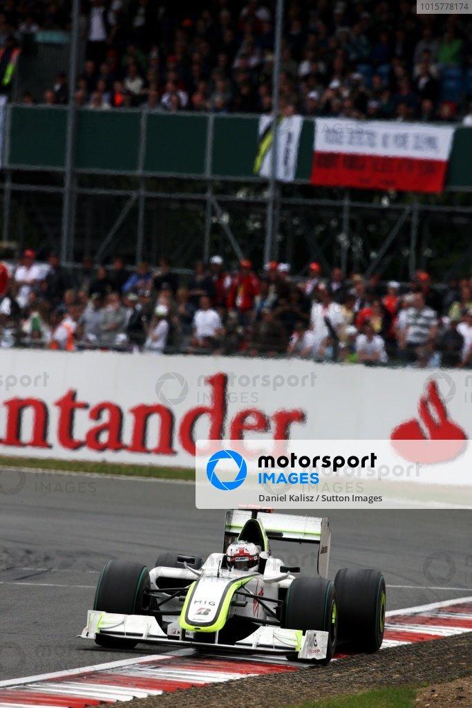 Kubica i Senna - słynna flaga, Silverstone 2009 (Button)