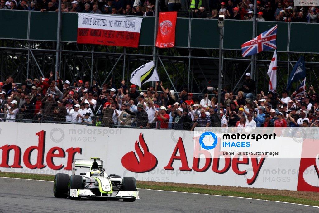 Kubica i Senna - słynna flaga, Silverstone 2009 (Barrichello)