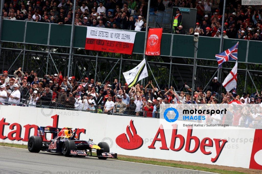 Kubica i Senna - słynna flaga, Silverstone 2009 (Vettel)